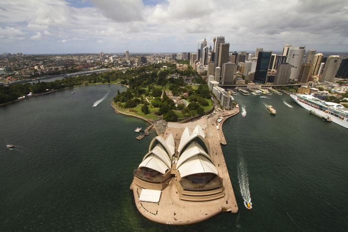 Sydney City aerial shot